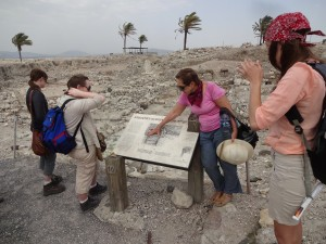 Norma Franklin gives a tour of Megiddo