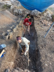 Excavating the path at Jezreel