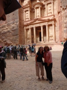 UE Professor Heidi Strobel & Jennie Ebeling at Petra