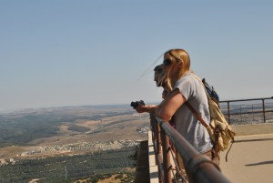 UE Alumni Mike & Katie take in the view of the Jezreel Valley