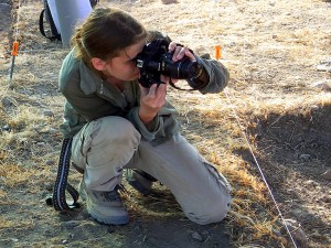 UE Alumna Ashley taking photos in Area S