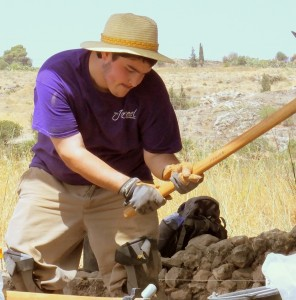 UE Student Isaac excavating Area S
