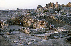 the church at close of excavation