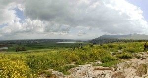 view from jezreel the spring and east to the harod valley